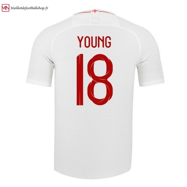Maillot Football Angleterre Domicile Young 2018 Blanc